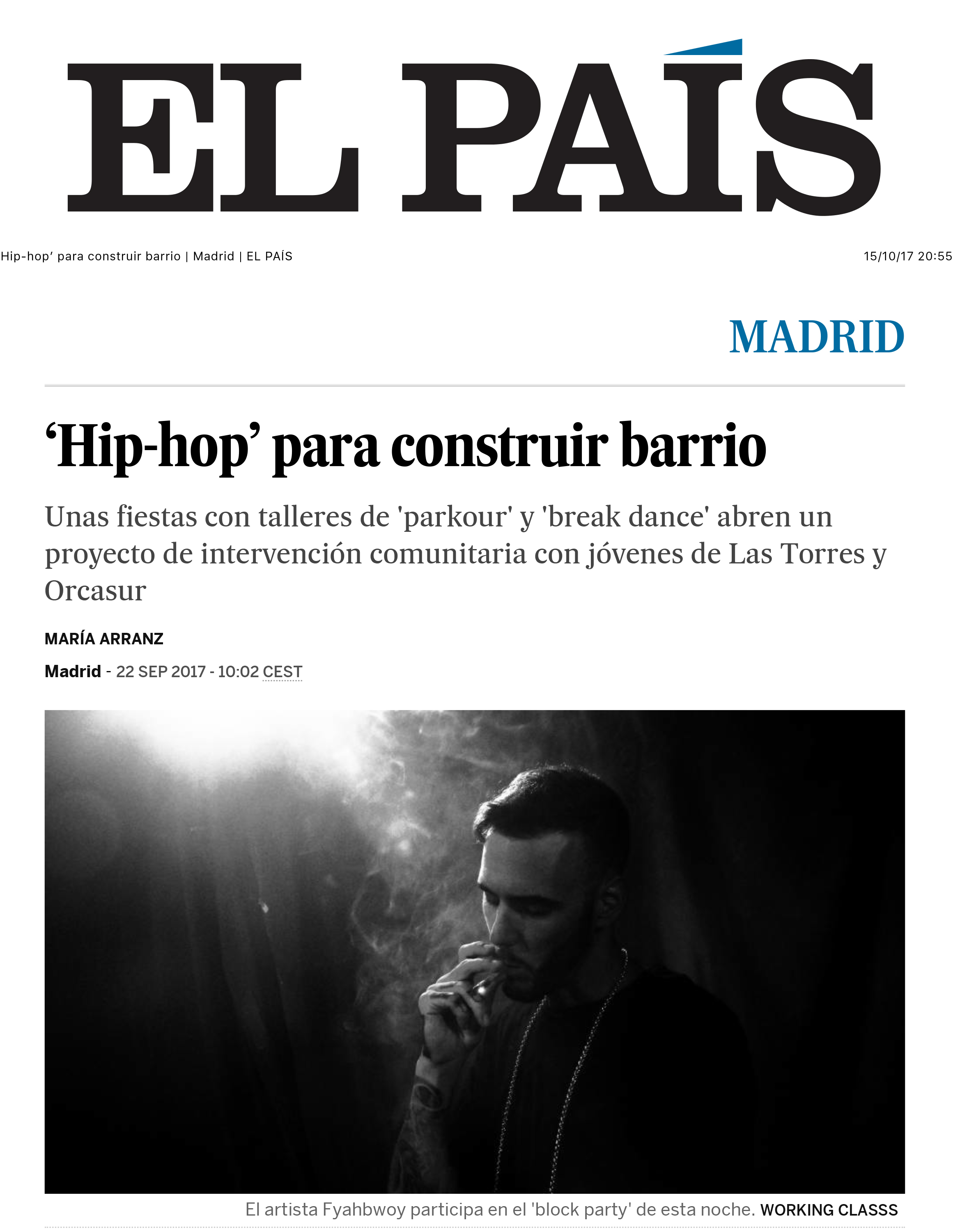 'Hip-hop' para construir barrio | Madrid | EL PAÍS